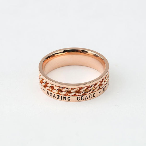 Women's Freedom Ring - Rose Gold (Factory Second)-Christian Rings-SonGear-SonGear