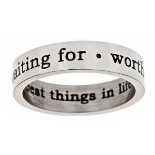 """Worth Waiting For"" Steel Purity Ring-Christian Rings-Cornerstone Jewelry-684191819988-5-684191819988-5-SonGear"