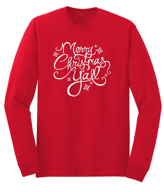 Merry Christmas Y'all Men's Long Sleeve