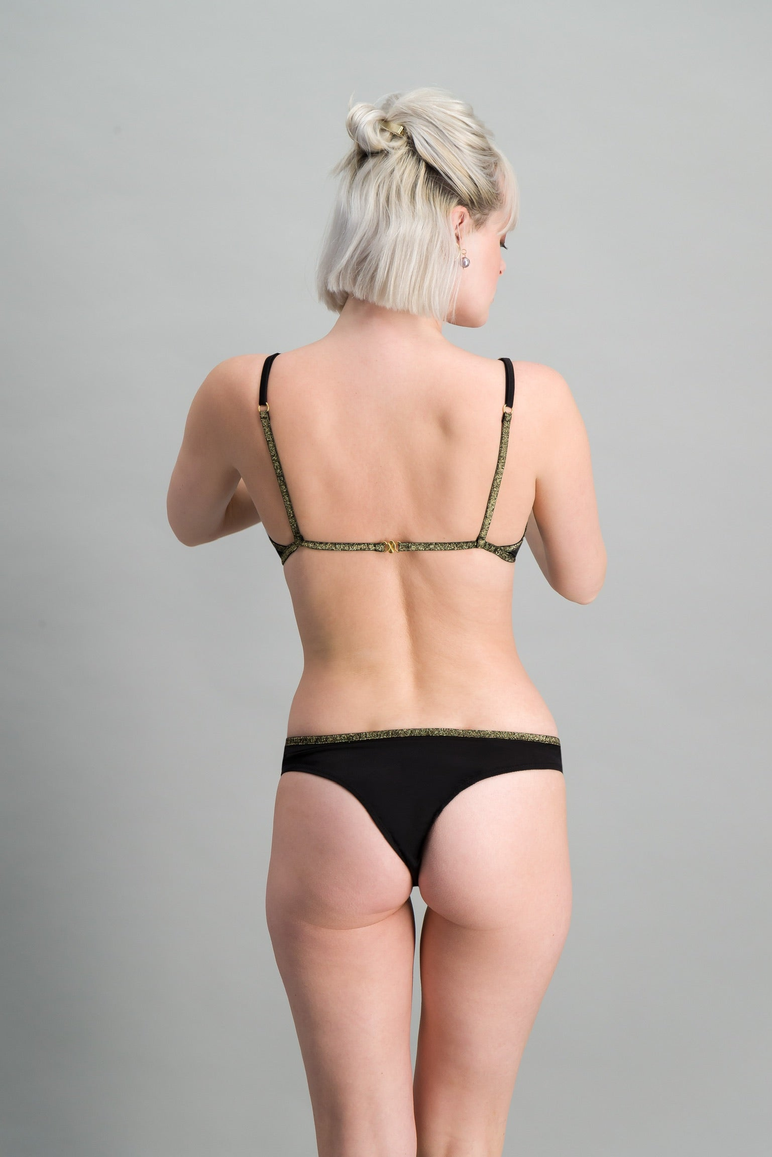 Tanga satin de soie - RITOURNELLE - NEW COLLECTION