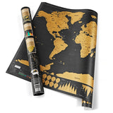 Deluxe Scratch Map Travel World Map Scratch 82.5x59.4cm