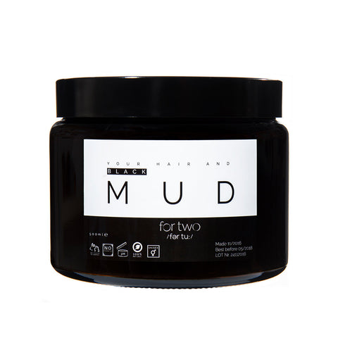 BLACK MUD HAIR MASK - FOR TWO