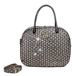 Brangio Italy Collections Women's Totes Bags Black Galaxy Stars Overnight Go Away Travel Bag
