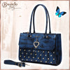 Brangio Italy Collections Women's Totes Bags Navy Heart 2 Heart Handmade Medium Elegant Satchel