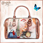 Brangio Italy Collections Women's Totes Bags Vintage Soul Travel Shoulder Bag With Removable Shoulder Strap