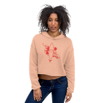 Women's First Love Cropped Cotton Fleece Hoodie