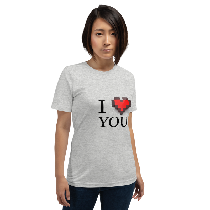 Jerry's Apparel Athletic Heather / S I Love You T-Shirt