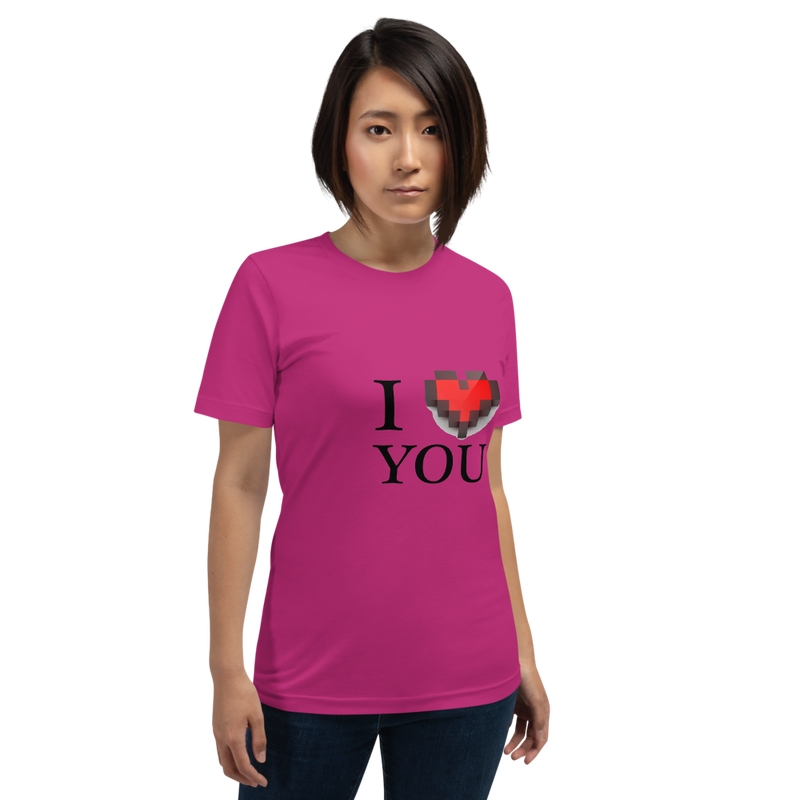 Jerry's Apparel Berry / S I Love You T-Shirt
