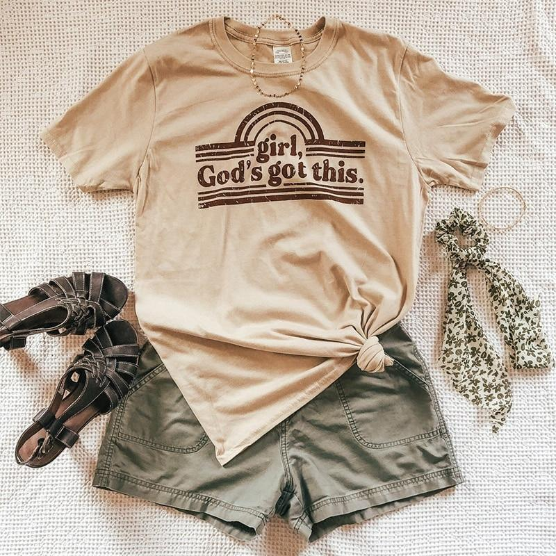 Jerry's Apparel Graphic T-shirts God's Got This Shirt