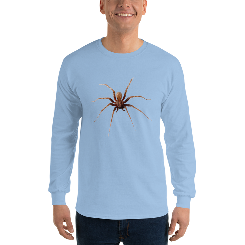 Jerry's Apparel Light Blue / S Men's Long Sleeve Spider Shirt