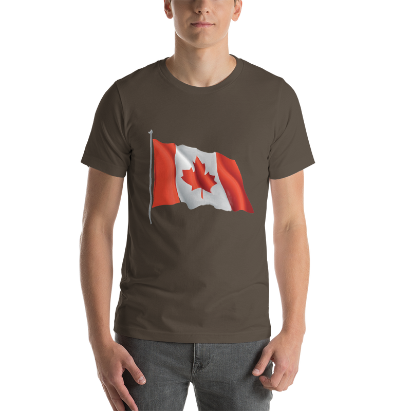 Jerry's Apparel Men Custom T-Shirts Army / S Canada Flag T-shirts