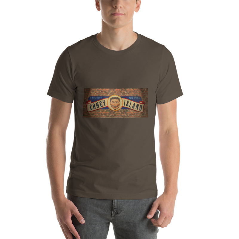 Jerry's Apparel Men Custom T-Shirts Army / S Coney Island Short-Sleeve Unisex T-Shirt