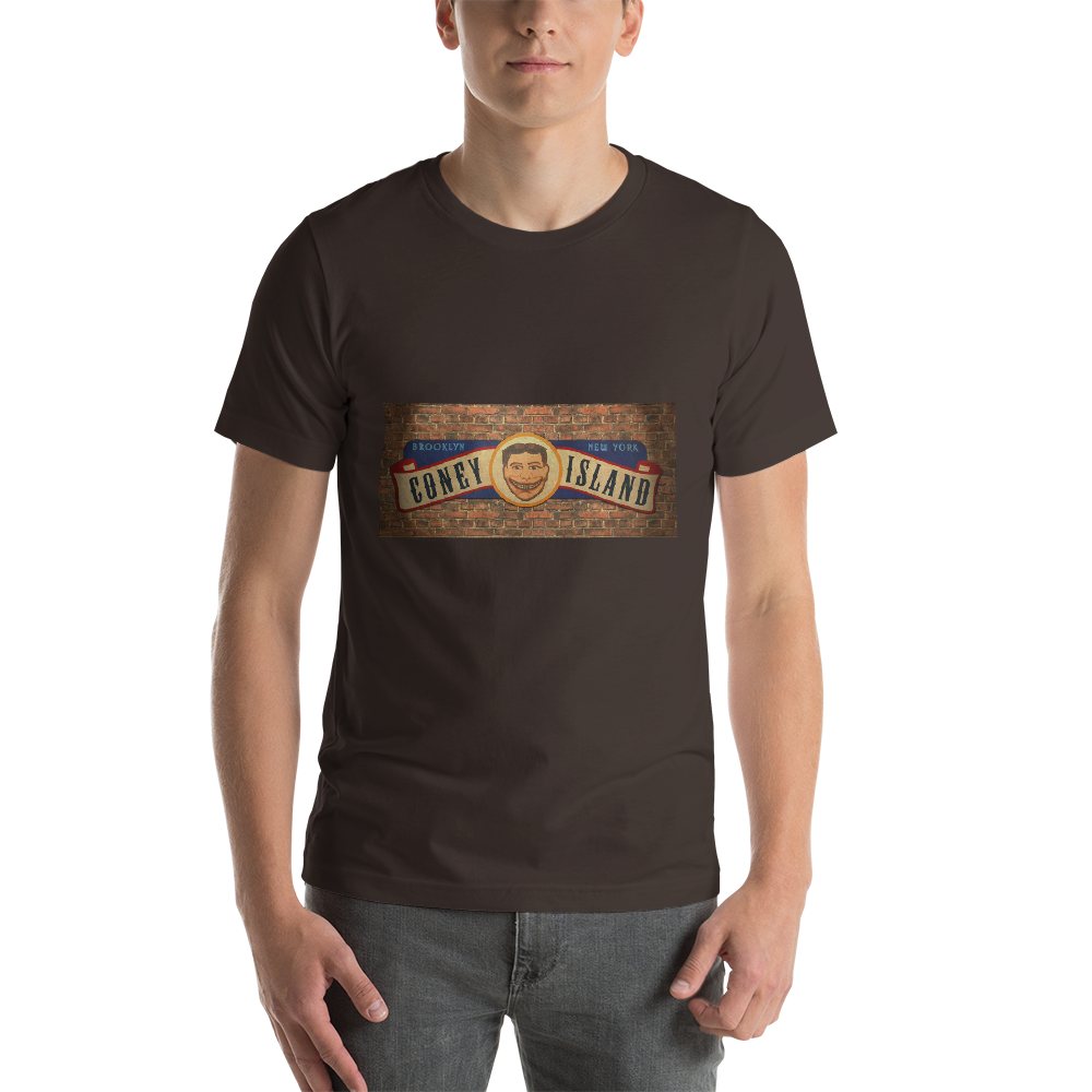 Jerry's Apparel Men Custom T-Shirts Brown / S Coney Island Short-Sleeve Unisex T-Shirt