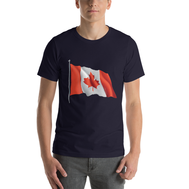 Jerry's Apparel Men Custom T-Shirts Navy / S Canada Flag T-shirts