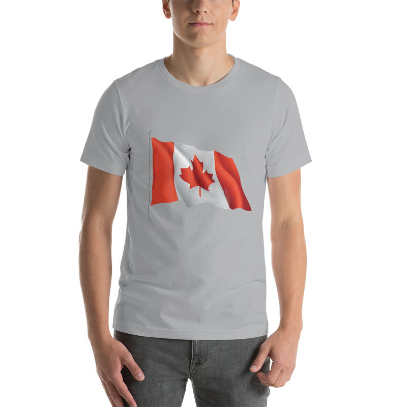Jerry's Apparel Men Custom T-Shirts Silver / S Canada Flag T-shirts