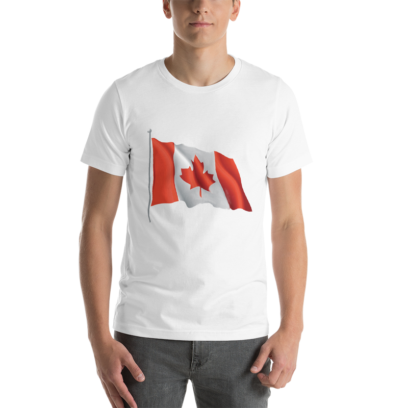 Jerry's Apparel Men Custom T-Shirts White / S Canada Flag T-shirts