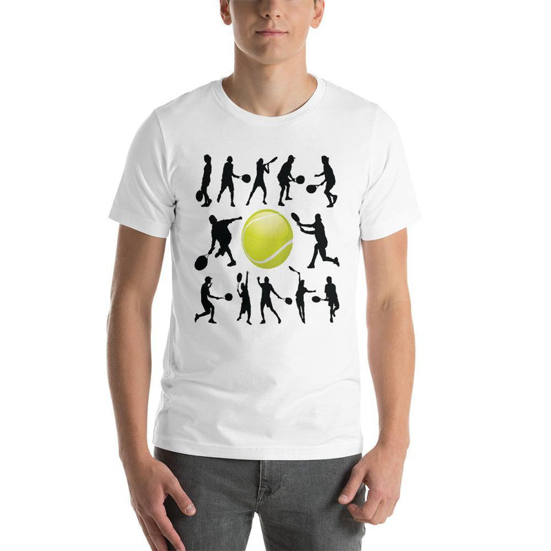 Jerry's Apparel Men Custom T-Shirts White / XS Tennis T-shirt