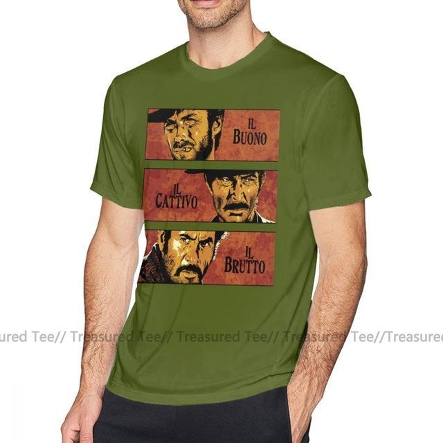 Jerry's Apparel Men Movie Tees Army Green / 5XL The Good The Bad And The Ugly T-Shirt