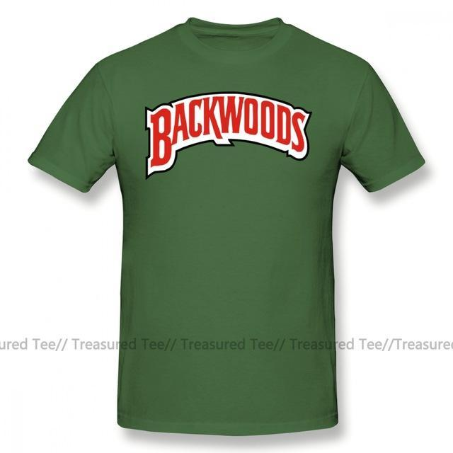 Jerry's Apparel Men Movie Tees Army Green / M Backwoods Logo T-Shirt