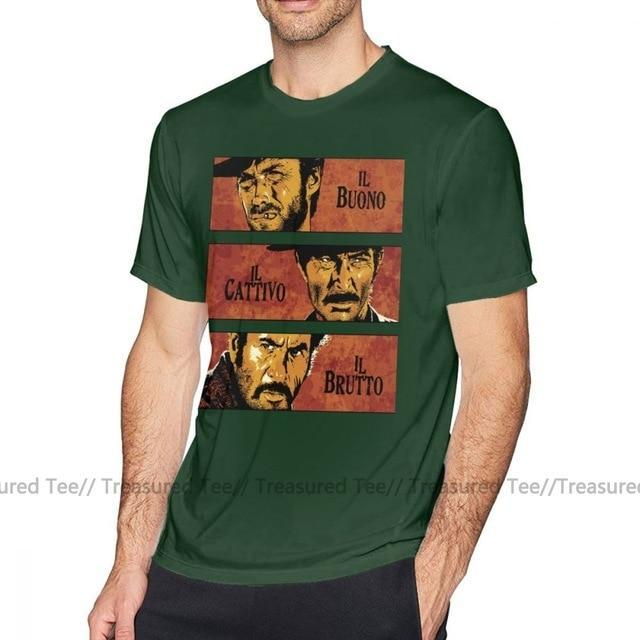 Jerry's Apparel Men Movie Tees Dark Green / 4XL The Good The Bad And The Ugly T-Shirt