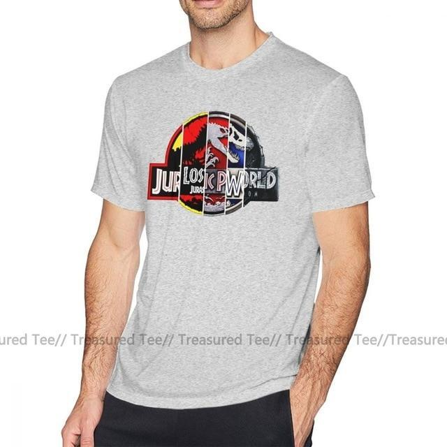 Jerry's Apparel Men Movie Tees Gray / XXXL Jurassic Park T Shirt