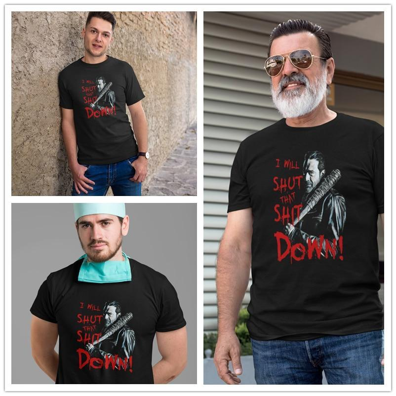 Jerry's Apparel Men Movie Tees Negan T-Shirt Oversize