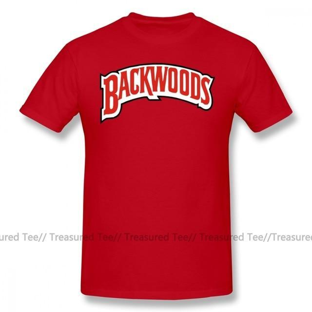 Jerry's Apparel Men Movie Tees Red / 5XL Backwoods Logo T-Shirt