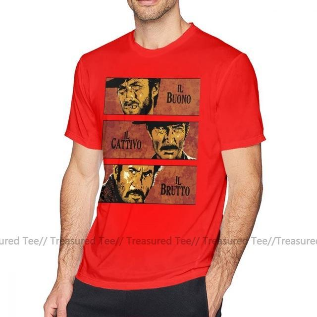 Jerry's Apparel Men Movie Tees Red / M The Good The Bad And The Ugly T-Shirt