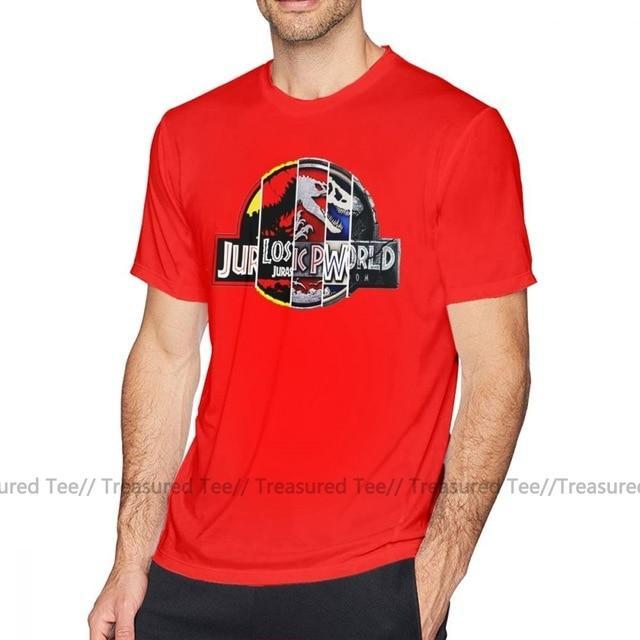 Jerry's Apparel Men Movie Tees Red / XL Jurassic Park T Shirt