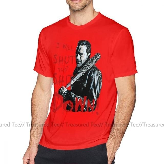 Jerry's Apparel Men Movie Tees Red / XXL Negan T-Shirt Oversize