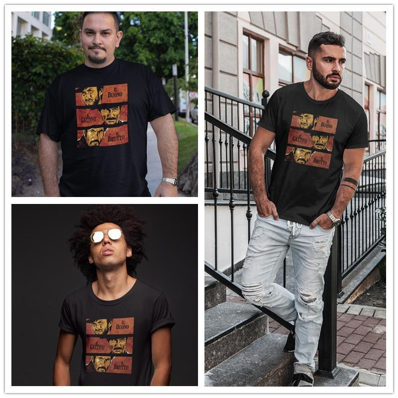 Jerry's Apparel Men Movie Tees The Good The Bad And The Ugly T-Shirt