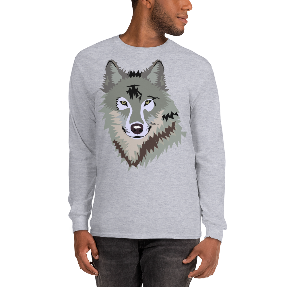 Men's Long Sleeve Wolf T-Shirt