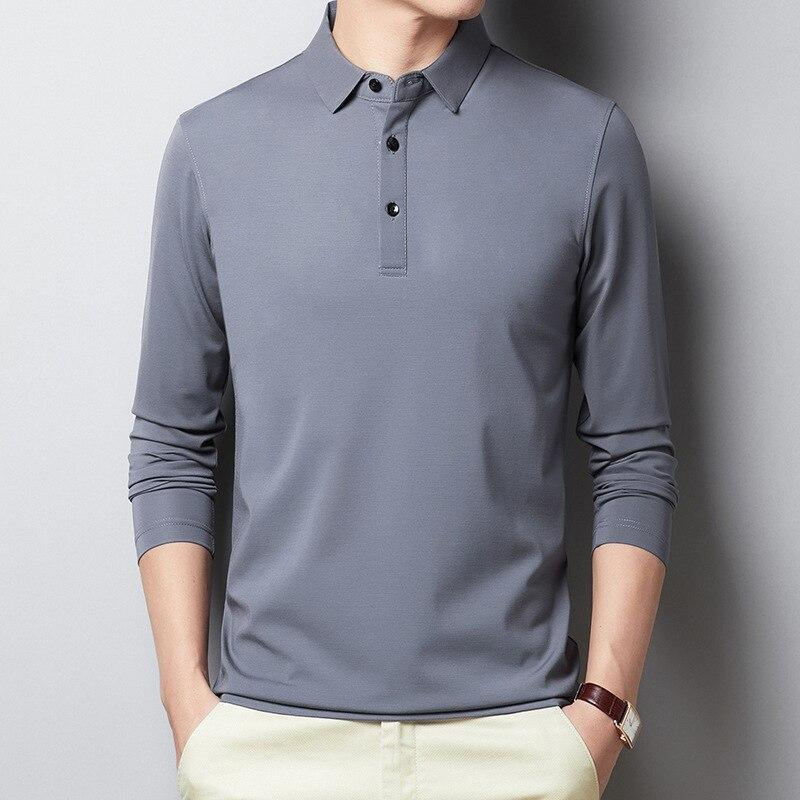Casual Men's Polo Shirt Long-Sleeved