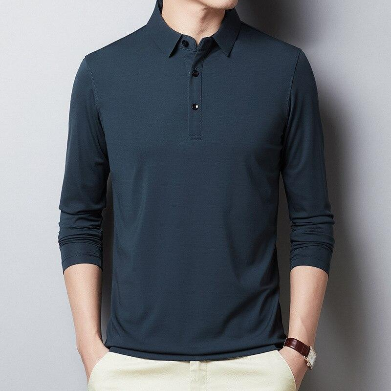 Men's Casual Polo Shirts Long-Sleeved