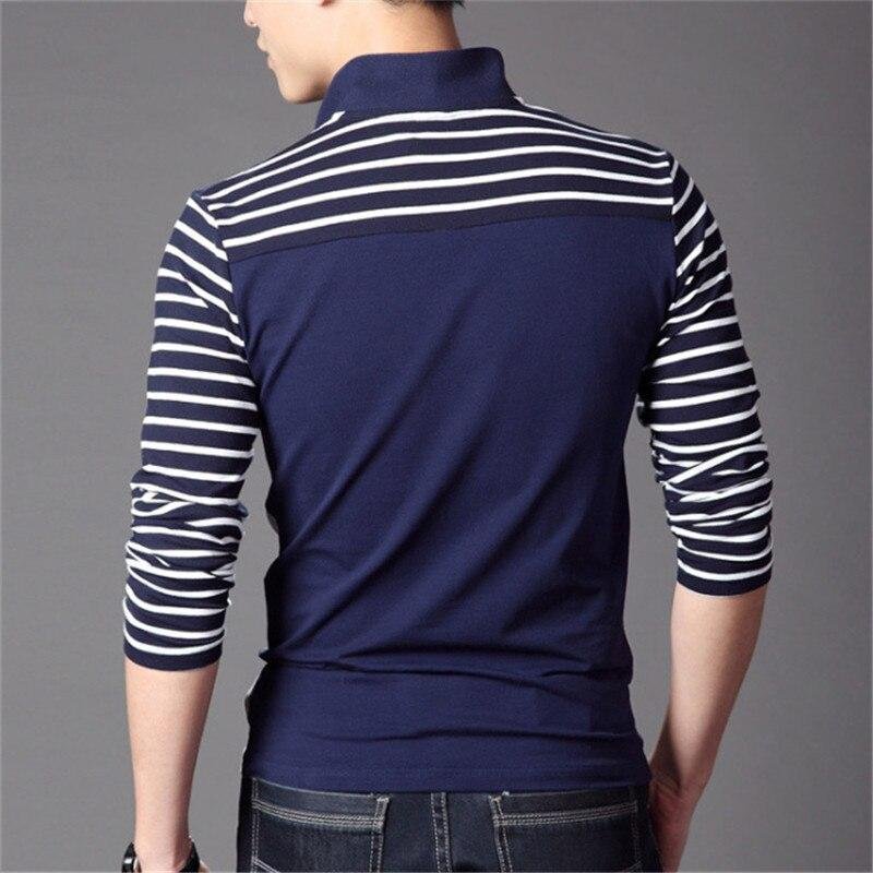 Spring Autumn Casual Men Long Sleeve Polo Shirt