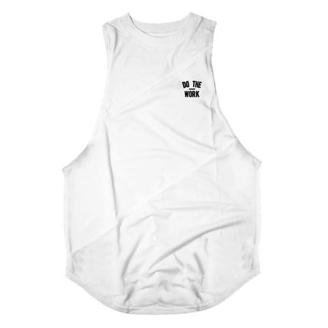 Jerry's Apparel Men Tank Tops white vest / M Gym Clothing Fitness Mens Tank Top with hooded