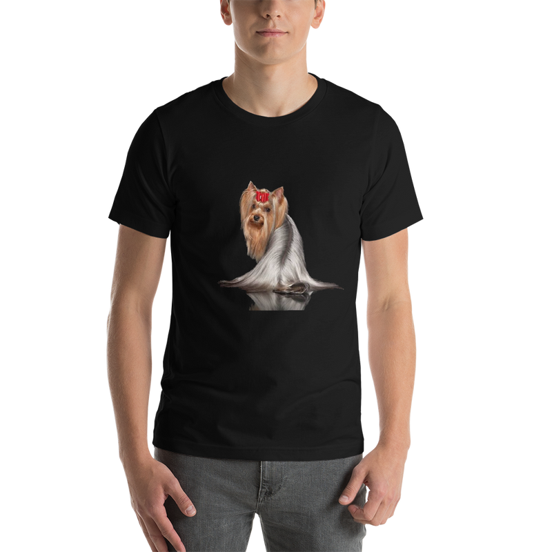 Jerry's Apparel Pet Tees Black / S Silver Long Hair Yorkie T-shirts