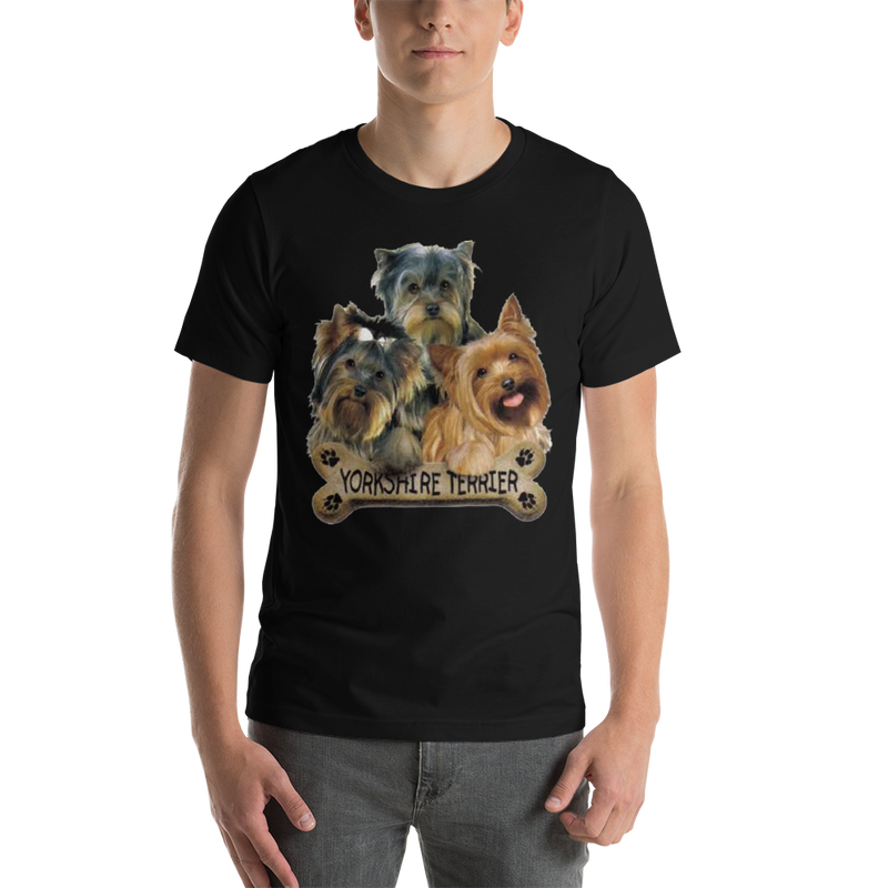 Jerry's Apparel Pet Tees Black / S Yorkie T-Shirt