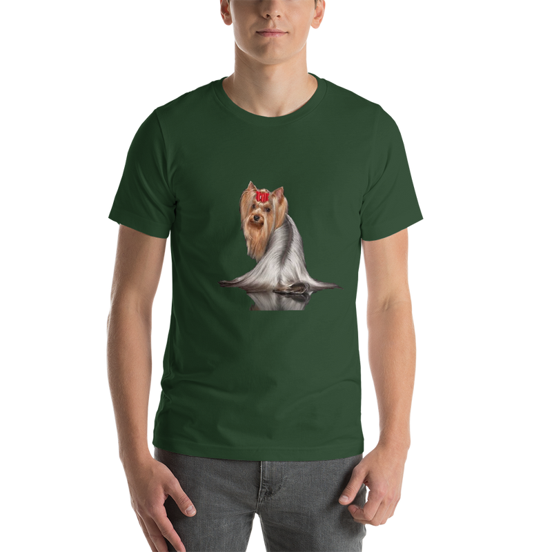 Jerry's Apparel Pet Tees Forest / S Silver Long Hair Yorkie T-shirts