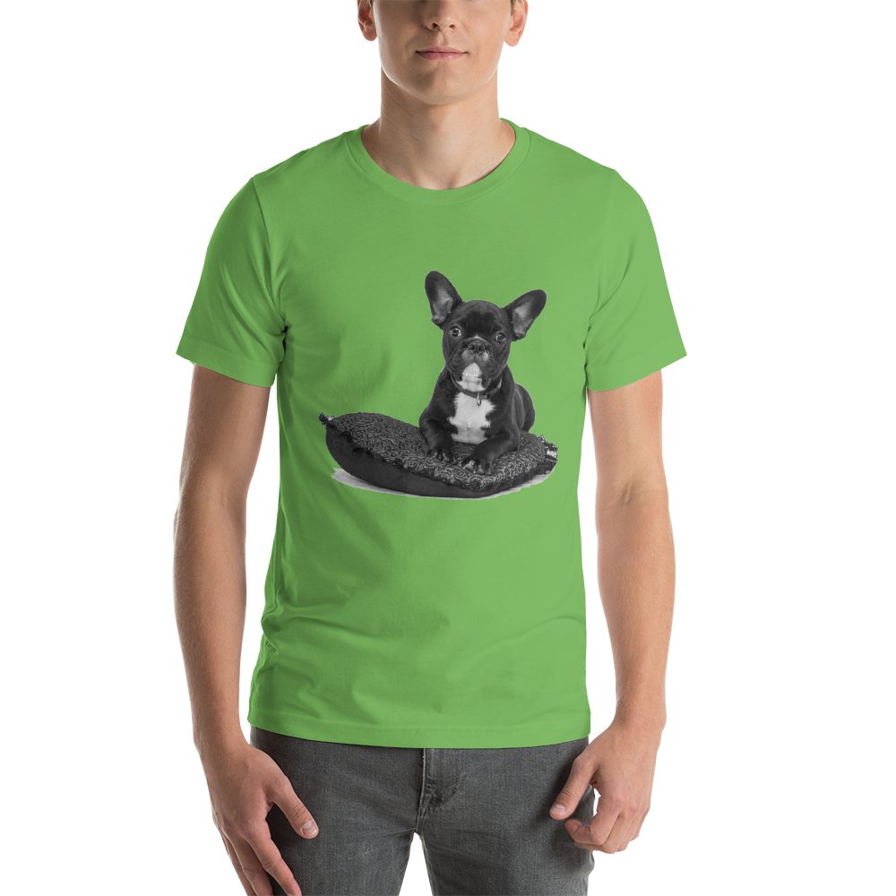 Jerry's Apparel Pet Tees Leaf / S Cute French Bulldog T-Shirt