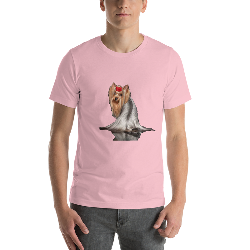 Jerry's Apparel Pet Tees Pink / S Silver Long Hair Yorkie T-shirts