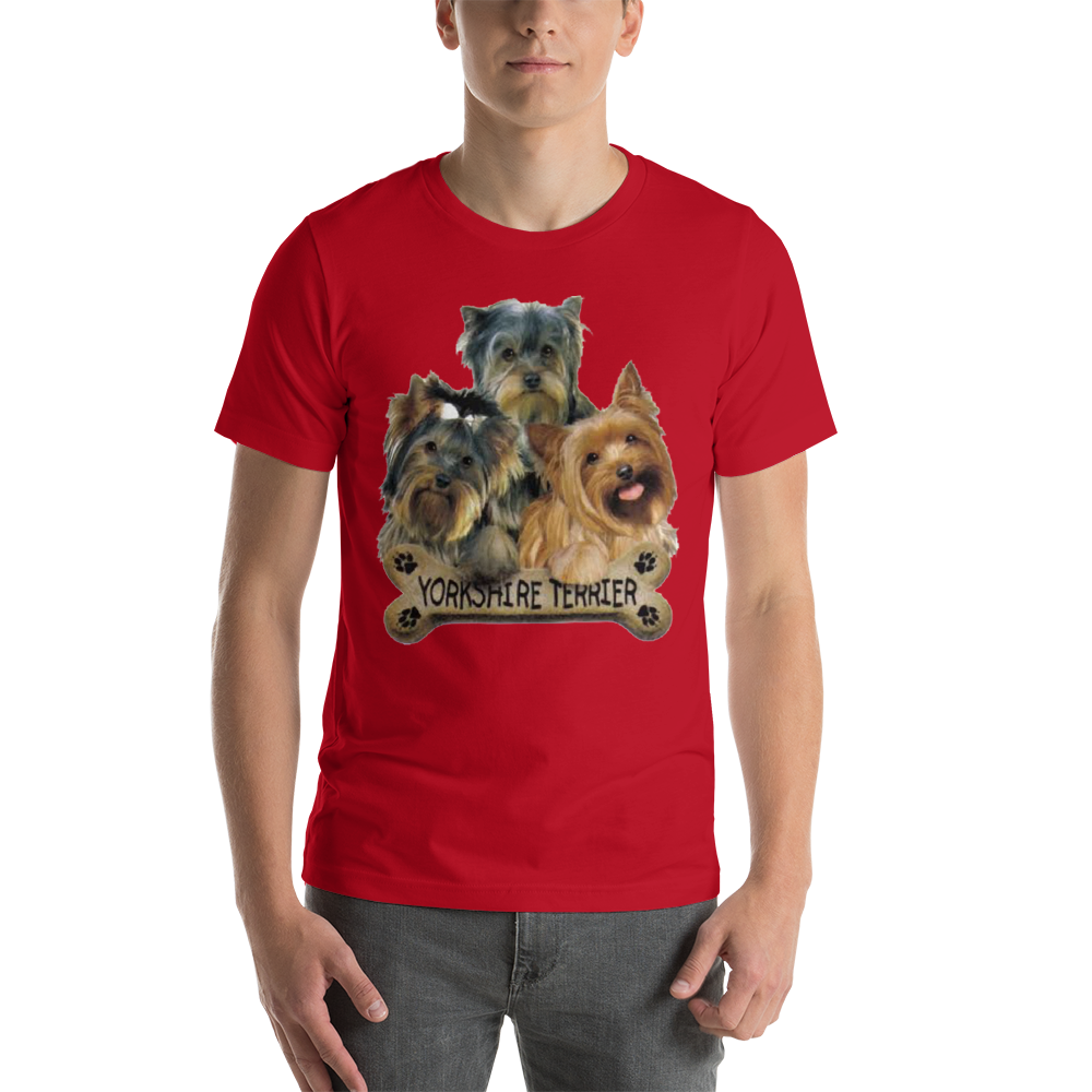 Jerry's Apparel Pet Tees Red / S Yorkie T-Shirt