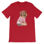 Yorkie T shirt with Bow