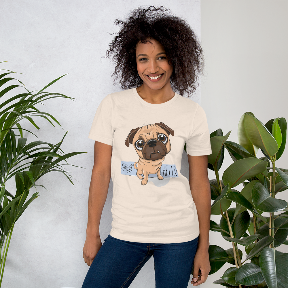Jerry's Apparel Pet Tees Soft Cream / S Say Hello T-Shirt