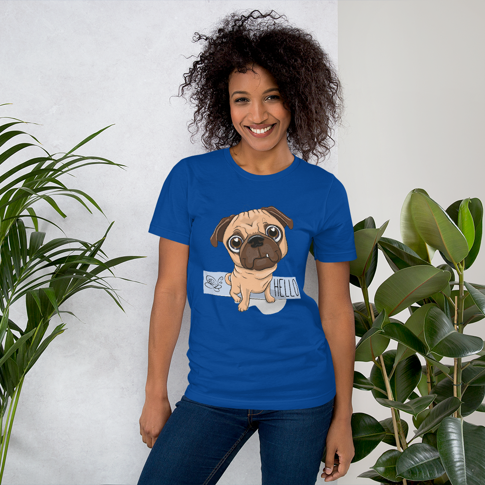 Jerry's Apparel Pet Tees True Royal / S Say Hello T-Shirt