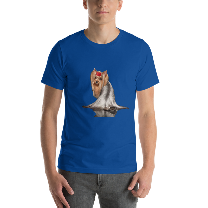 Jerry's Apparel Pet Tees True Royal / S Silver Long Hair Yorkie T-shirts