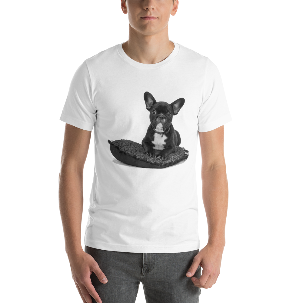 Jerry's Apparel Pet Tees White / S Cute French Bulldog T-Shirt