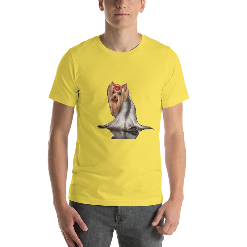 Jerry's Apparel Pet Tees Yellow / S Silver Long Hair Yorkie T-shirts