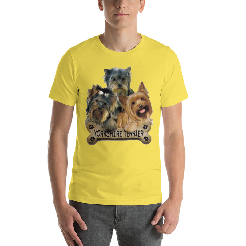 Jerry's Apparel Pet Tees Yellow / S Yorkie T-Shirt