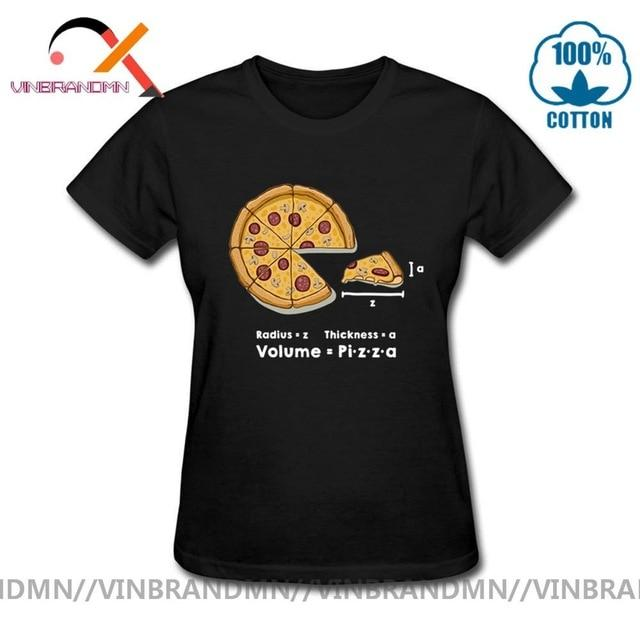 Jerry's Apparel Pizza T-shirts Black / XL Funny Pizza formula T-shirts